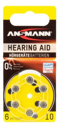 Ans Zinc Air 10 hear/aid battery