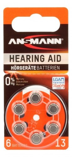 Ans Zinc Air 13 hear/aid battery