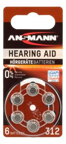 Ans Zinc Air 312 hear/aid battery