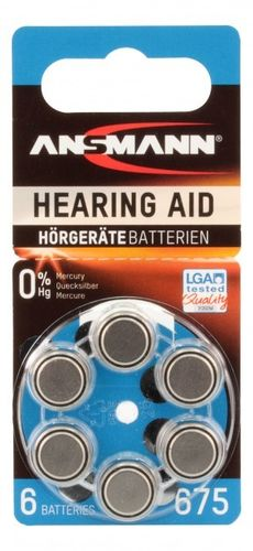 Ans Zinc Air 675 hear/aid battery