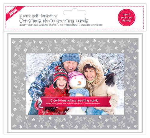 SHOT2GO Christmas Greeting Cards 6 Pack