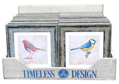 Irish Garden Birds Wall Art CDU + 32 Units